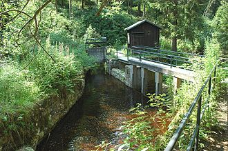 Upper Harz Ditches - Control weir on the Dyke Ditch where it discharges into the Große Oker