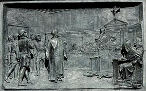English: The trial of Giordano Bruno by the Ro...
