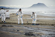 Oil spill cleanup.