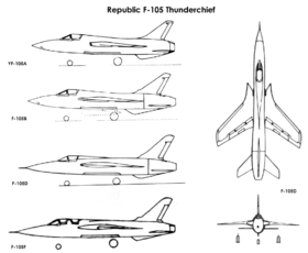 Republic F-105 variants drawings.png