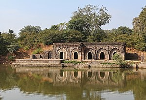 Mandu, Madhya Pradesh - Rewa Kund - a reservoir that supplies water to Roopmati's Pavilion.