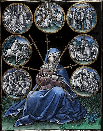 Pierre Reymond - Plaque with Seven Sorrows of Mary by Pierre Reymond, National Museum in Warsaw, 1541