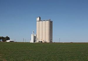 Parmer County, Texas - Image: Rhea, Parmer County, Texas, grain elevator, 2010
