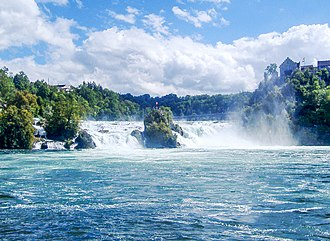 Rhine Falls - The Rhine Falls seen from the Rhine