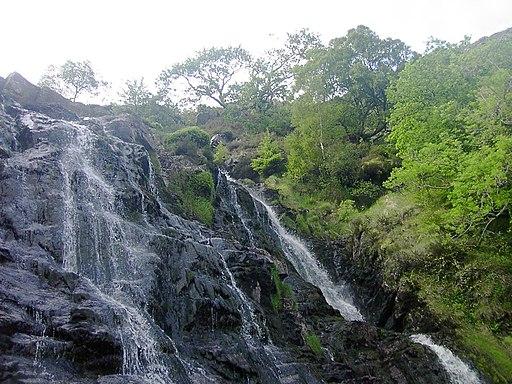 Rhiwargor Falls, Lake Vyrnwy, Powys, Wales
