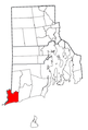 Rhode Island Municipalities Westerly Highlighted.png