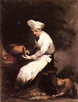 Théodule Ribot - Image: Ribot Theodule The Cook And The Cat 1