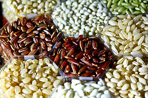 Rice - Rice can come in many shapes, colours and sizes.