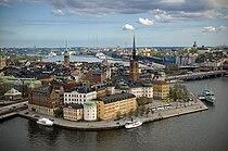 Riddarholmen from Stockholm City Hall tower.jpg