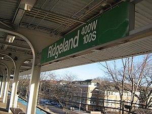 Ridgeland station - Image: Ridgeland Station Green Line