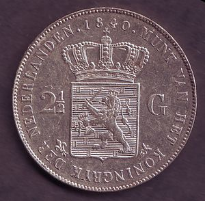 Dutch rijksdaalder - The first rijksdaalder of the Kingdom of the Netherlands, issued in 1840