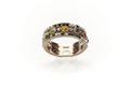 Ring med tre rader i silver fattade stenar från 1800-1825 - Skoklosters slott - 92277.tif