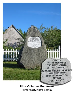 Riverport, Nova Scotia - Ritcey Settler's Monument