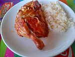 Roasted chicken and Turkish pilaf.jpg