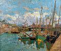 Robert Antoine Pinchon, Bateaux au port, oil on carton, 46 x 55 cm.jpg