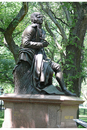 Robert Burns (Steell) - The sculpture in Central Park in 2009