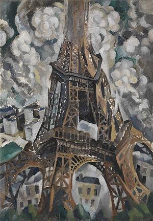 Eiffel Tower (Delaunay series) - Image: Robert Delaunay, Der Eiffelturm, 1910