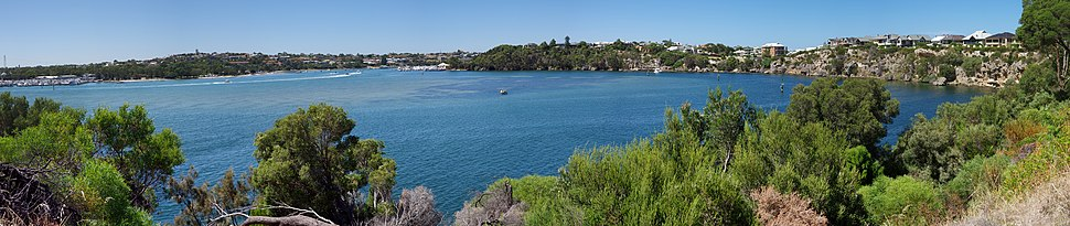 Panorama of Rocky Bay looking south