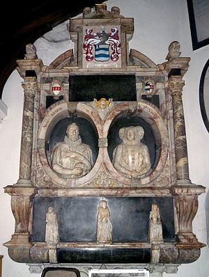 Roger Wilbraham - The Roger Wilbraham monument in St Mary the Virgin church, Monken Hadley