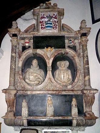 Roger Wilbraham - The Roger Wilbraham monument in St Mary the Virgin church, Monken Hadley