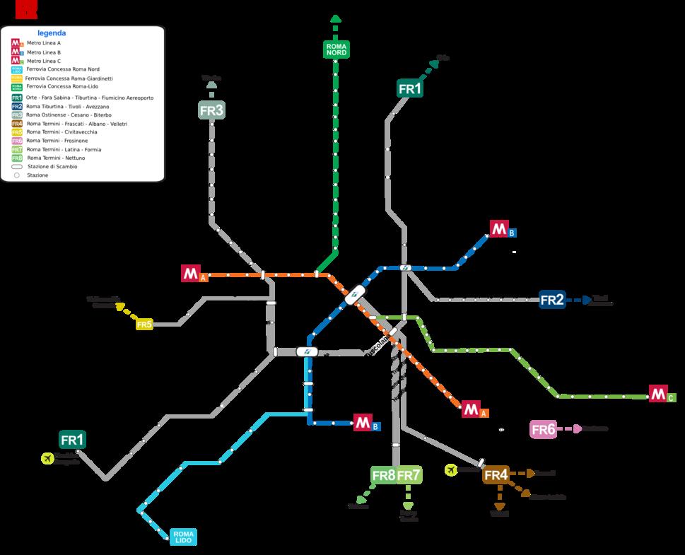 Roma Metropolitana e Ferrovia 2012