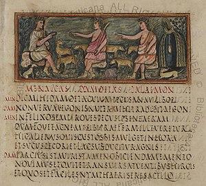 Vergilius Romanus - Image: Roman Virgil Folio 006r