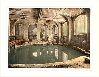 "The Ruin - Roman pool at Bath, England, which may be the subject of ""The Ruin""."