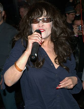 "The Ronettes - Ronnie Spector in 2010 singing ""Be My Baby"" to Michael Musto."