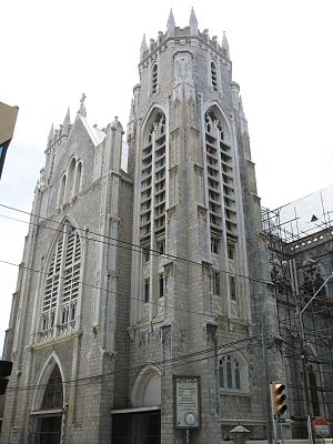 Port of Spain - Historic Gothic Rosary Church at the corner of Henry and Park Streets 2008
