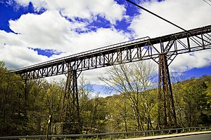Rosendale Trestle - The trestle, photographed in April 2011