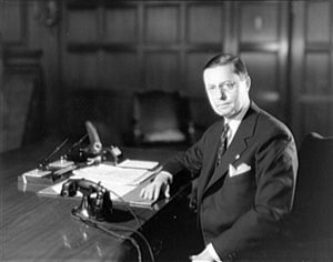 Roy D. Chapin - Chapin at his desk as Secretary of Commerce, 1932.