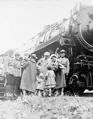 James Howden MacBrien - Royal Visit – Train and Mounties 1933