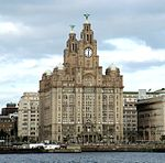 Royal Liver Building, Iron Railings and Stone Piers Surrounding Royal Liver Building