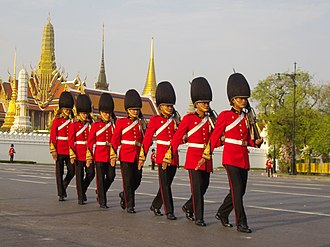 Royal Thai Army - King's Guard from 1st Infantry Regiment, King's Own Bodyguards in the Royal Funeral of Princess Bejaratana Rajasuda