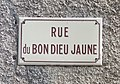 Rue du Bon Dieu Jaune (Druyes-les-Belles-Fontaines) - panneau de rue.jpg