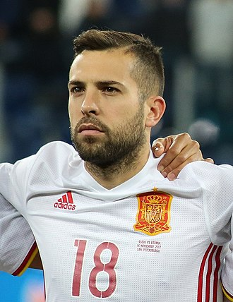 Jordi Alba - Alba with Spain in 2017