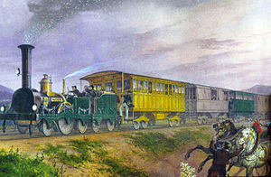 Southern Railway (Austria) - Südbahn train near Baden, 1847