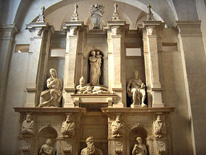 Tomb of pope Julius II by Michelangelo, church...