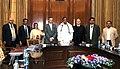 S. Skandan, the CommissionerSecretary, Higher Education, Government of J&K, Mrs. Tanveer Jahan and the Registrar, Jamia Milia Islamia.jpg
