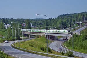 S81 passing Pumperinmäki at Jyväskylä