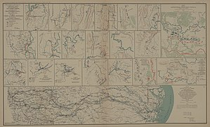 Sherman's March to the Sea - Savannah Campaign (Sherman's March to the Sea): detailed map.