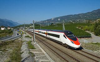 EuroCity train in Europe