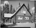 SIDE, LOOKING WEST - Mount McKinley Headquarters, Superintendent's Residence, Cantwell, Denali Borough, AK HABS AK,23-MCKIN,1-E-2.tif