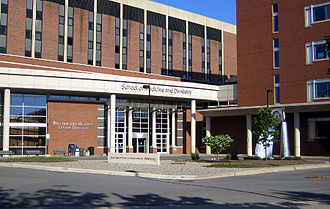 University of Rochester Medical Center - The entrance of the School of Medicine and Dentistry at the University of Rochester Medical Center