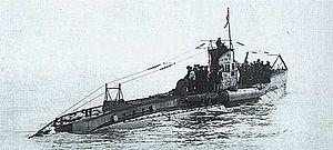Tysk U-båt.