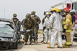 SPMAGTF-CR-AF Marines & Spanish firefighters conduct vehicle extrication training 160427-M-QM580-002.jpg
