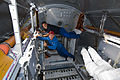 STS-128 Rick Sturckow and Jose Hernandez work in the Leonardo MPLM.jpg