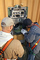 STS-133 GUCP ground umbilical carrier plate removing.jpg