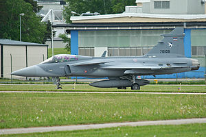 Royal Thai Air Force -  The Royal Thai Air Force's newest frontline fighter; the Saab JAS 39 Gripen