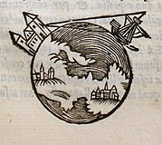 Picture from a 1550 edition of On the Sphere of the World, the most influential astronomy textbook of the 13th century.
